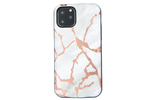 White & Gold Metallic Marble Battery Case
