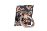 Black & Gold Floral Ring Holder