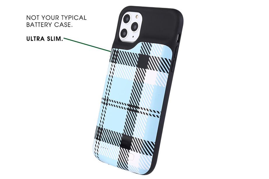 Blue Plaid Ultra Battery Power Phone Case