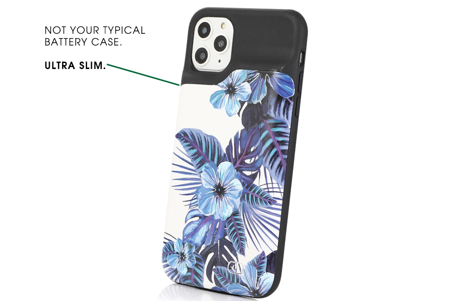 Blue Dream Floral Ultra Battery Power Phone Case