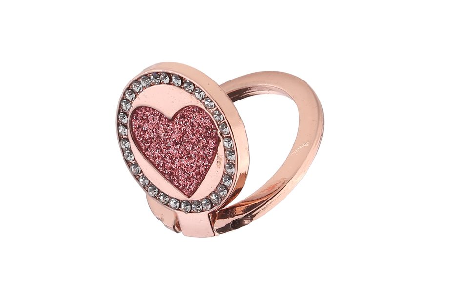 Rose Gold Circle Heart Ring Holder