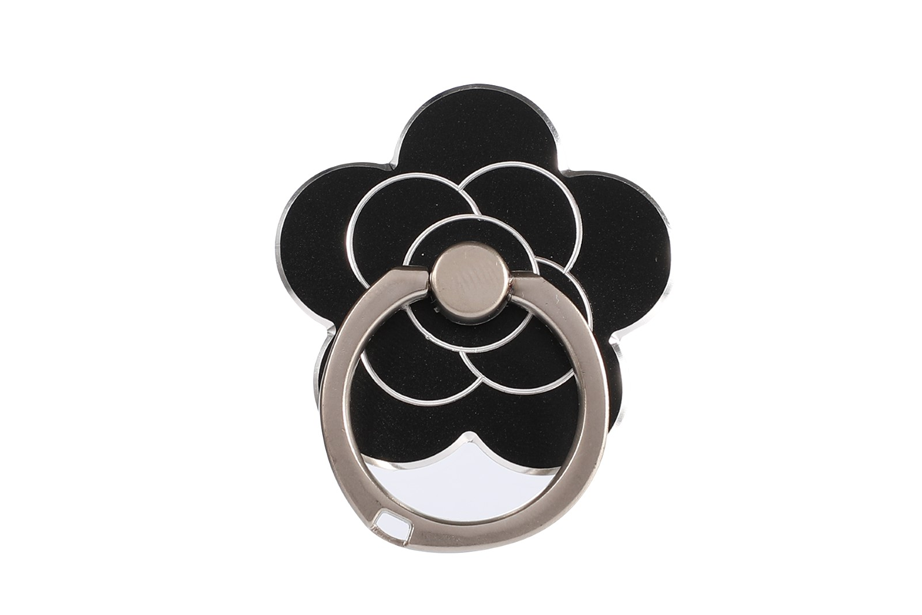 Black Flower Ring Holder