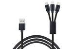 Black 3-in-1 Charging Cable