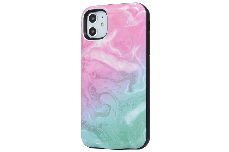 Cotton Candy Marble Battery Case
