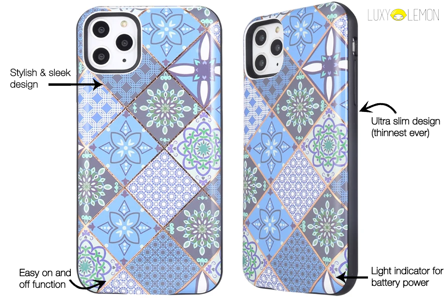 Mosaic Tile Battery Power Phone Case