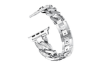 Silver Thick Link Bracelet Watch Band