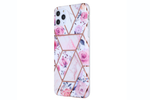 Glass Shield & Phone Case Set - Geo Metallic Floral