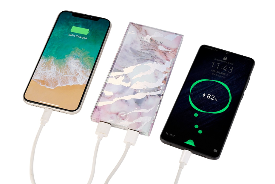 Pastel Holo Marble Power Bank Charger