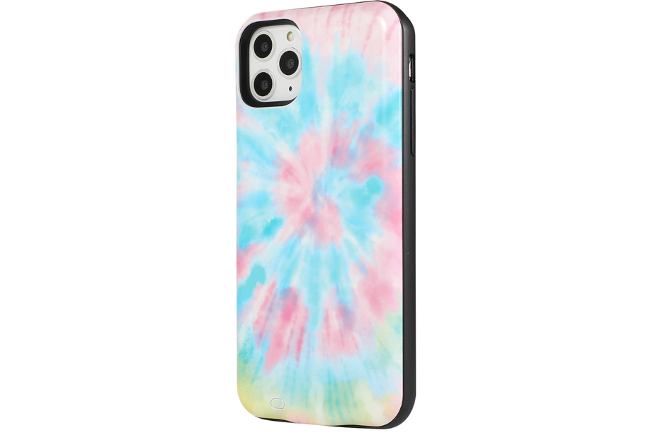 Rainbow Tie Dye Battery Power Phone Case
