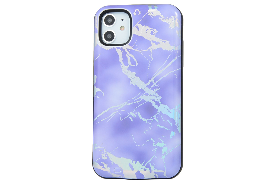 Purple Holo Marble Battery Power Phone Case