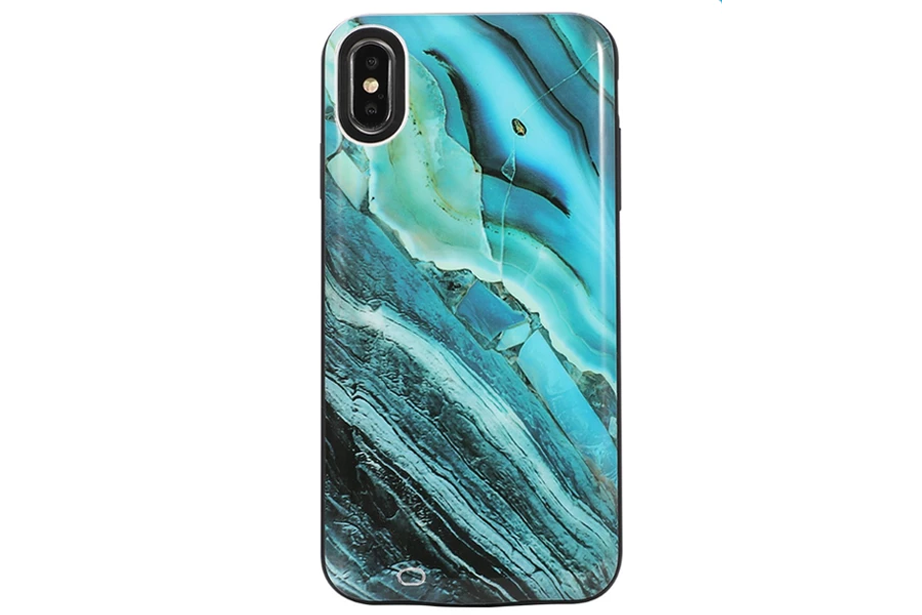 Blue Canyon Marble Battery Power Phone Case