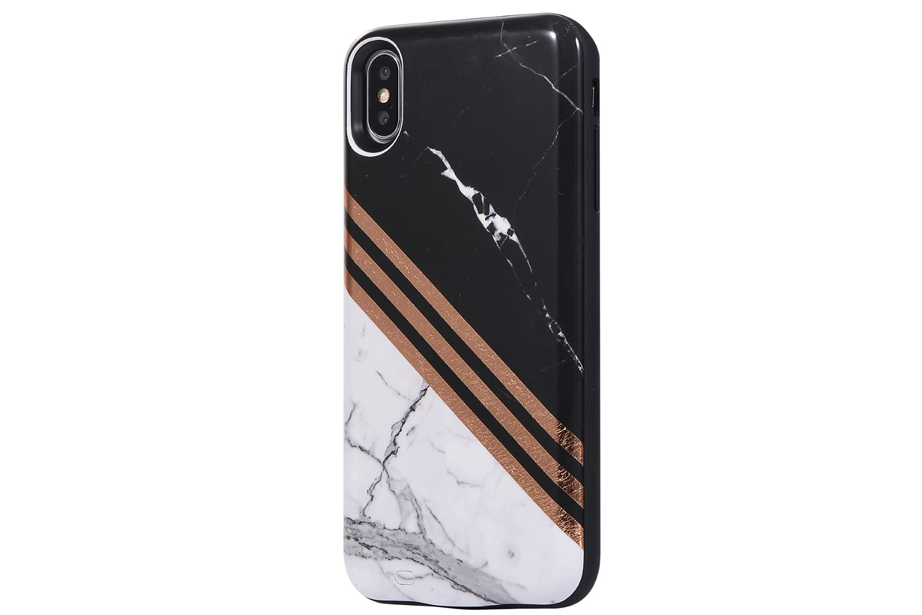 Black & White Metallic Battery Power Phone Case