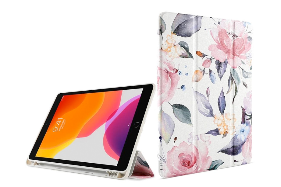 White Floral Watercolor iPad Case