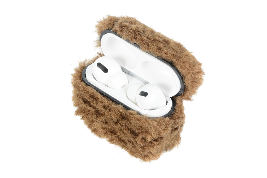 Brown Furry AirPod Holder