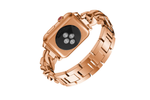 Rose Gold Thick Link Bracelet Watch Band