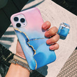 Pink & Blue Ombre Marble Phone Case