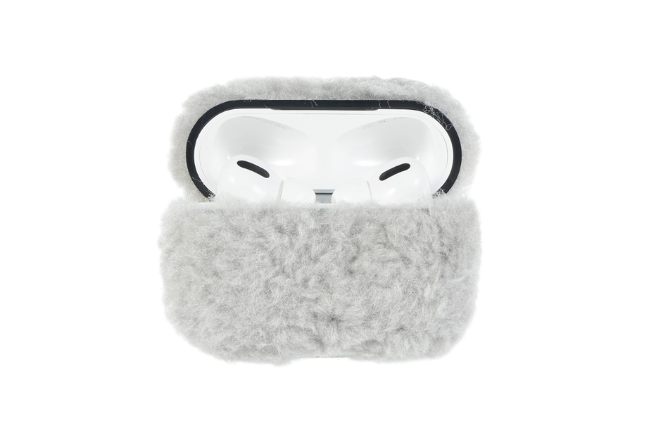Gray Furry AirPod Holder
