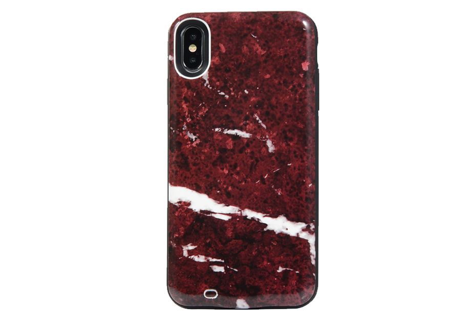 Red Ruby Marble Battery Power Phone Case