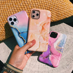Peach Stone Marble Phone Case