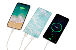 Mint Holo Marble Power Bank Charger