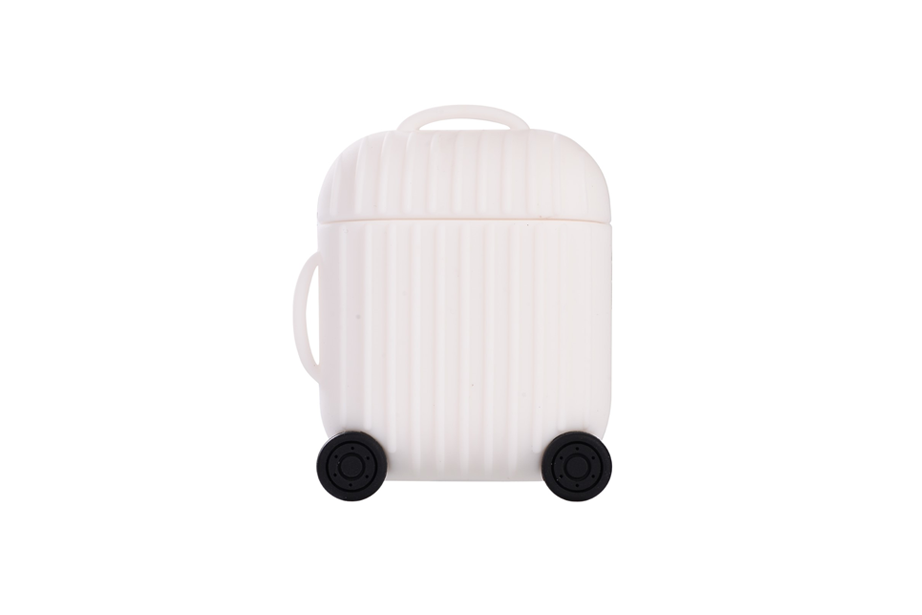 White Luggage Airpod Holder