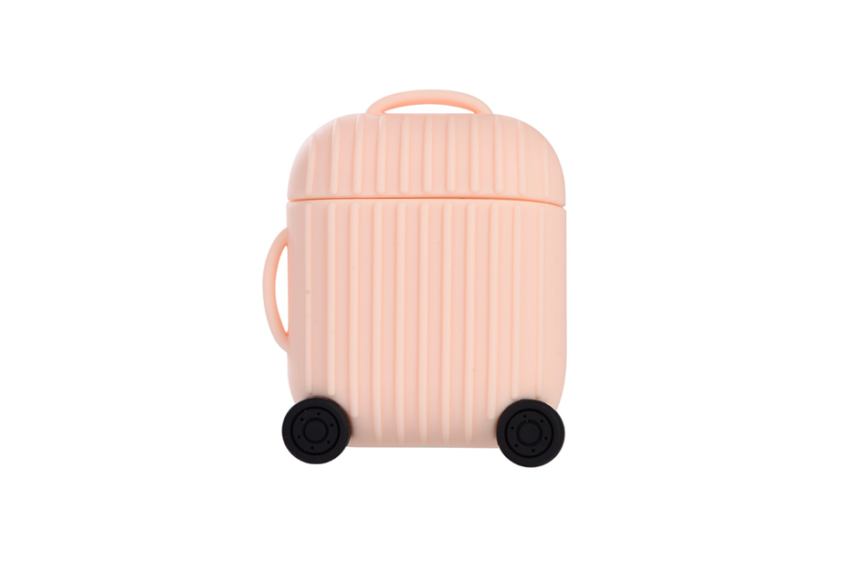 Pink Luggage AirPod Holder