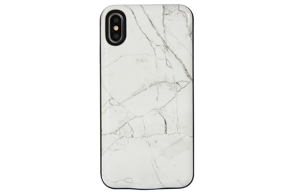 White Marble Battery Power Phone Case