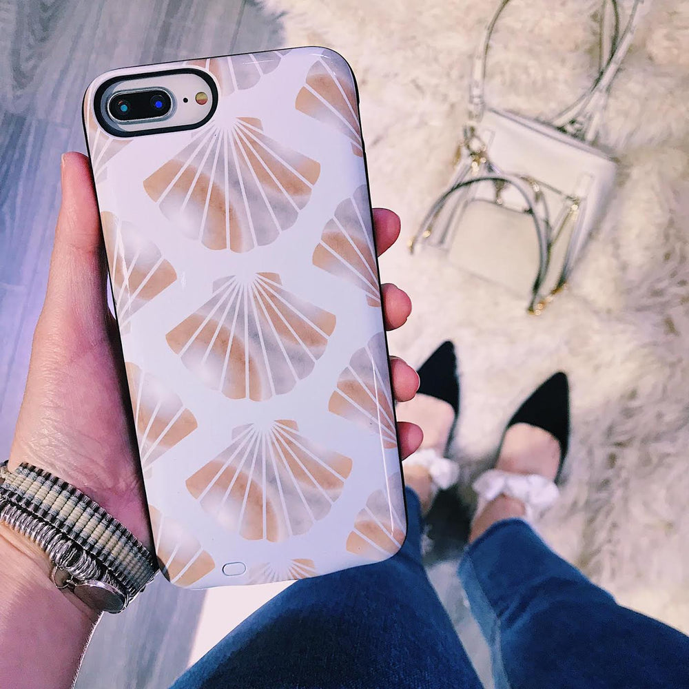 Seashells Battery Power Phone Case