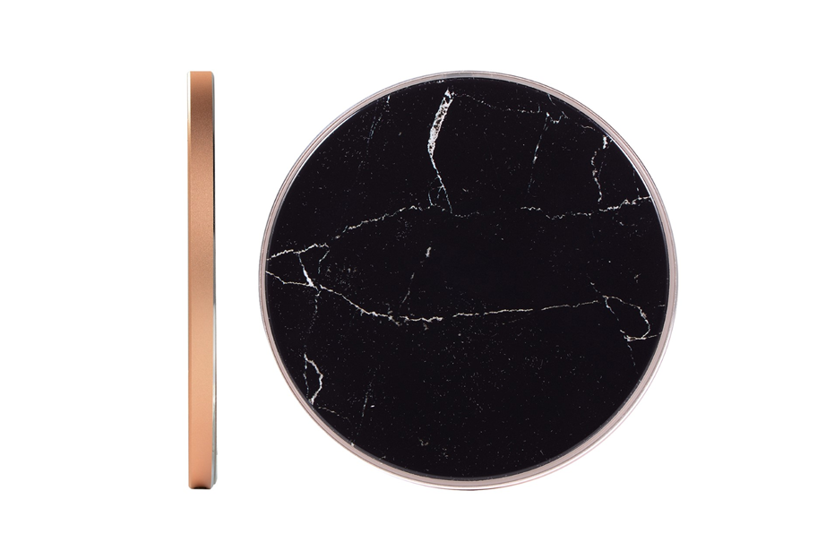 Black Marble Wireless Charging Pad