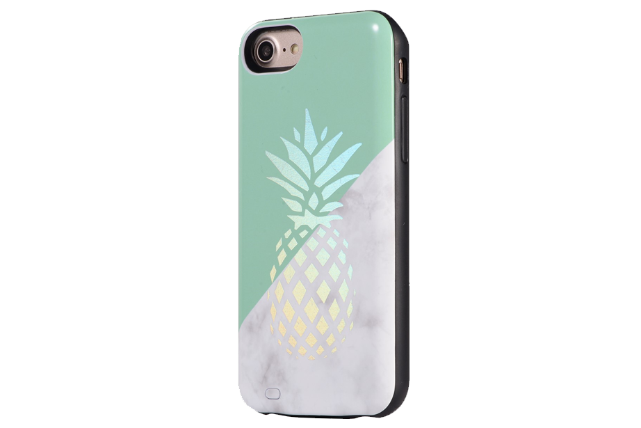 Pineapple Holo Marble Battery Power Phone Case