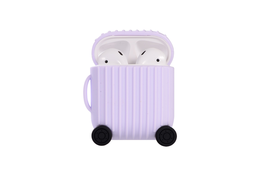 Purple Luggage AirPod Holder