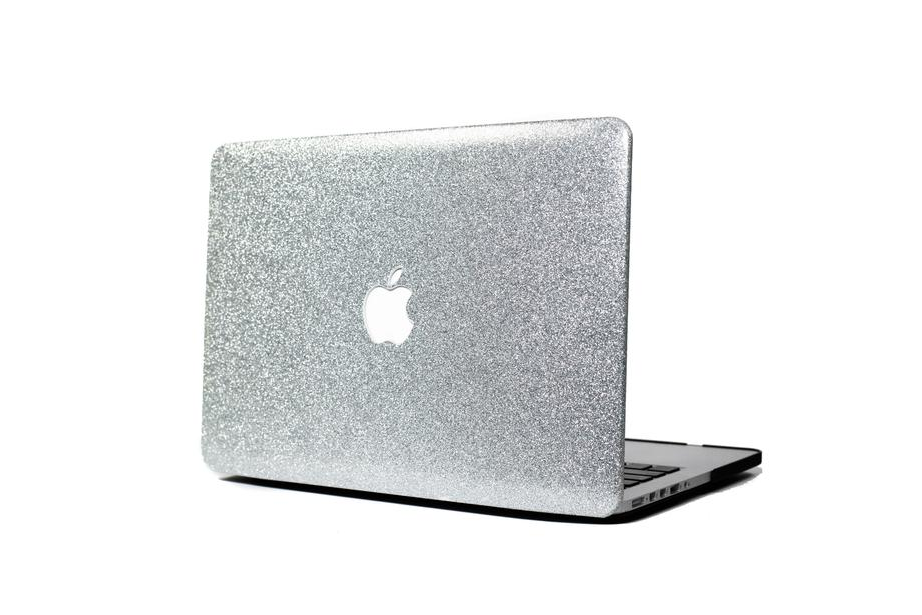 Silver Glitter Macbook Protective Case