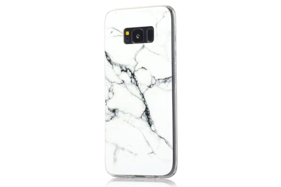 White Marble Samsung Phone Case