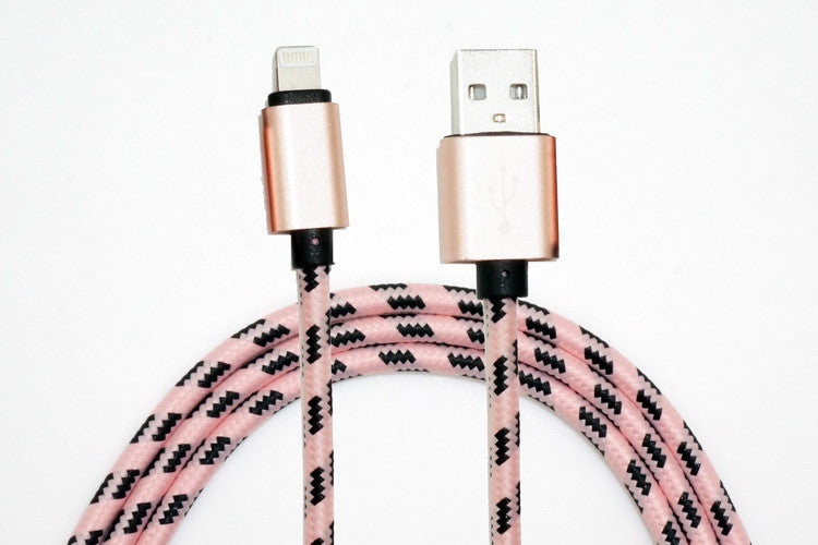 Pink & Black Charge & Sync Cables