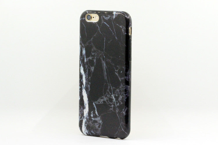 Glass Shield & Phone Case Set - Black Marble