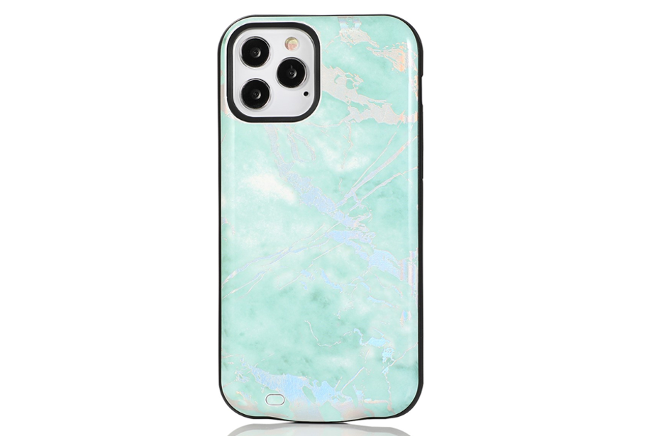 Mint Holo Marble Battery Case