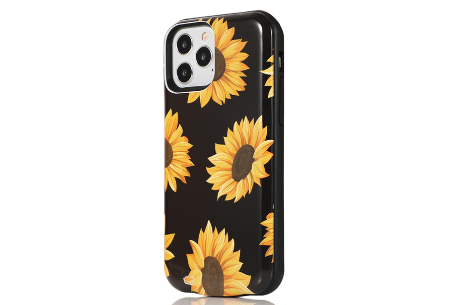 Black Sunflower Battery Case
