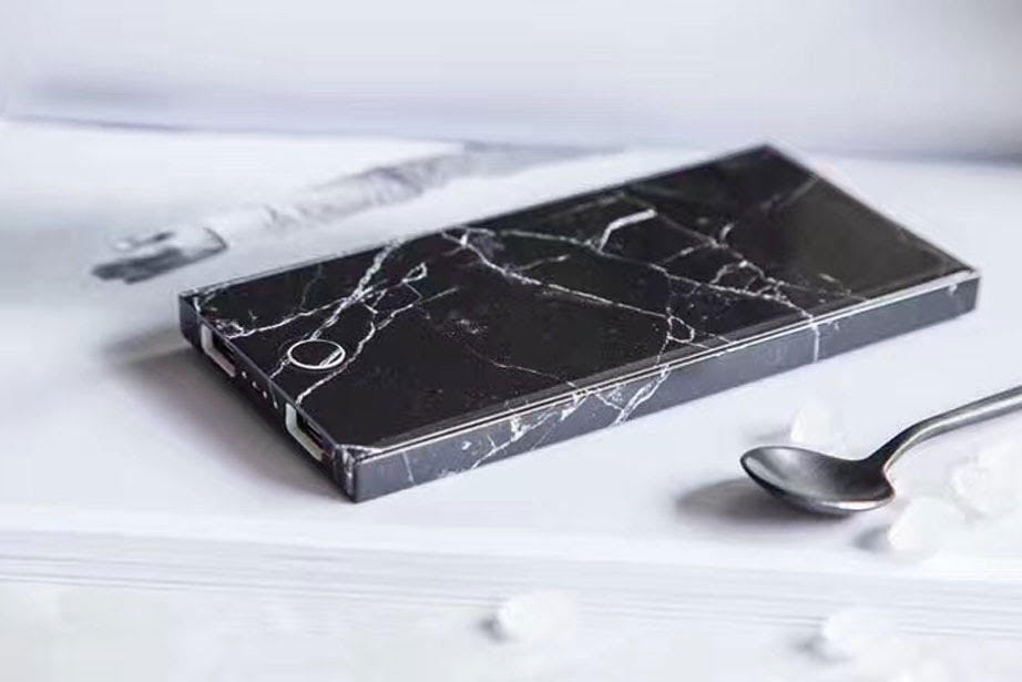 Black Marble Power Bank Charger