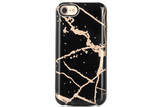 Black & Gold Marble Battery Power Phone Case