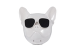 White Frenchie Bluetooth Speaker