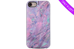 Purple Crystal Marble Battery Power Phone Case
