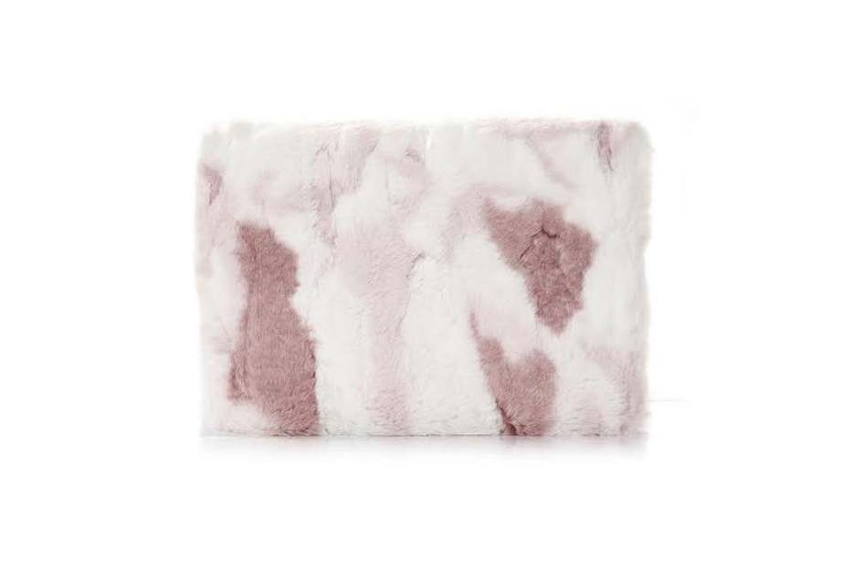 Pink & White Fur Macbook Protective Case