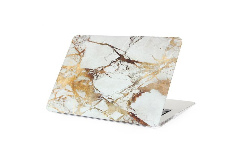 White & Gold Marble Macbook Protective Case