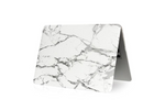 White & Silver Marble Macbook Protective Case