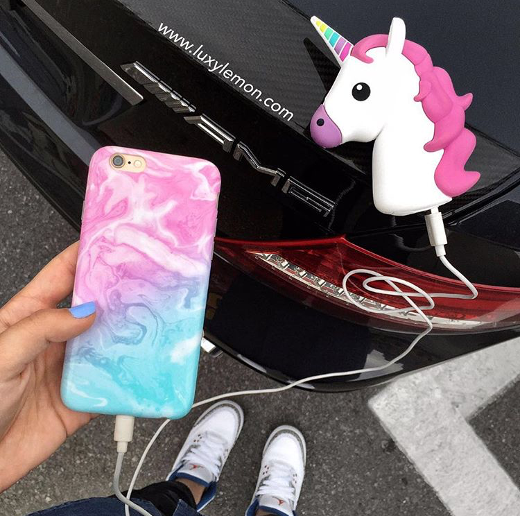 """Cotton Candy Swirl"" Marble Phone Case"