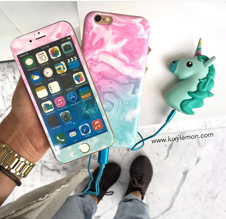 Cotton Candy Swirl Marble Phone Case