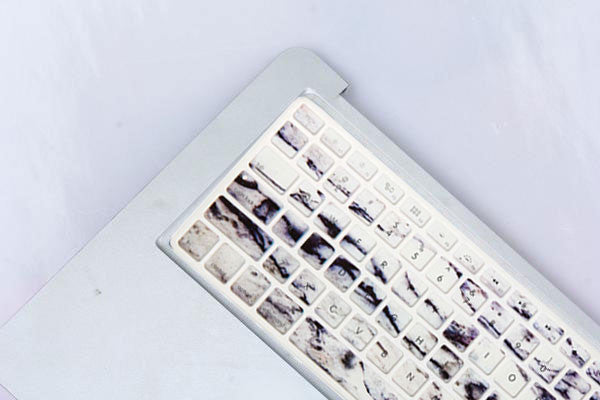 Blue Hint Marble Macbook Keyboard Cover