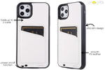 White Cardholder Battery Power Phone Case