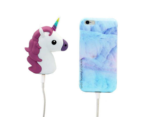 White Unicorn Power Bank Charger