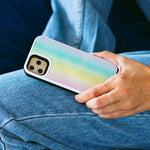 Rainbow Laser Holo Glass Battery Case